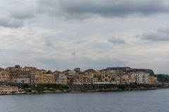 Panoramic view of old town in Corfu island, Greece Royalty Free Stock Photography