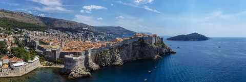 Panoramic View of the Old Town of Dubrovnik royalty free stock photo