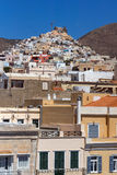 Panoramic view of Old town of Ermopoli, Syros, Islands, Greece Royalty Free Stock Image
