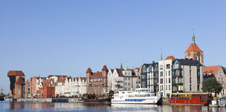 Panoramic view of Old Town in Gdansk, Poland Stock Images
