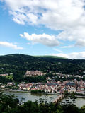 The panoramic view of old town in Heidelberg Stock Image
