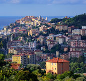 Panoramic view of the old town of Imperia on italian Riviera, Li Stock Photography