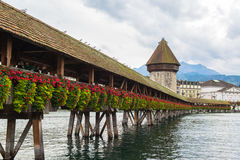 Panoramic view of old town of Lucerne Royalty Free Stock Photo