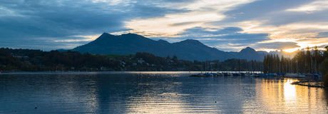 Panoramic view of old town of Lucerne Royalty Free Stock Image