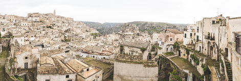 Panoramic view of old town in Matera, Italy Royalty Free Stock Photo