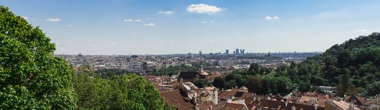 Panoramic view of Pague Royalty Free Stock Images
