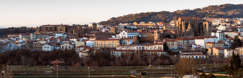 Panoramic view of  Old town of Plasencia Royalty Free Stock Photos
