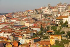 Panoramic view of the old town. Porto. Portugal Royalty Free Stock Photos