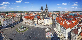 Panoramic view of old town in Prague. Stock Images