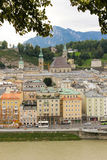 Panoramic view of the Old town. Salzburg. Austria Royalty Free Stock Image