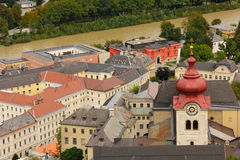 Panoramic view of the Old town. Salzburg. Austria Stock Images