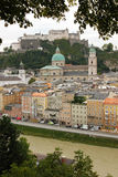 Panoramic view of the Old town. Salzburg. Austria Royalty Free Stock Images