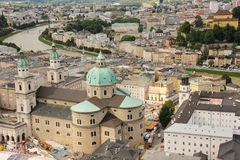 Panoramic view of the Old town. Salzburg. Austria Royalty Free Stock Photography
