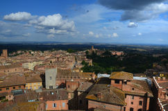 Panoramic view of old town of Siena, Tuscany,  Italy Royalty Free Stock Photo