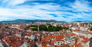 Panoramic view of old town Split royalty free stock images