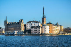 Panoramic view of the Old Town of Stockholm. Birger Jarls tower view. Stock Image
