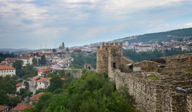 Panoramic view of  Old Town and Tzarevetz fortressat at Veliko Tarnovo, Bulgaria. Stock Photo