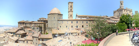 Panoramic view at the old town of Volterra on Italy Royalty Free Stock Photos
