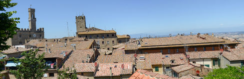 Panoramic view at the old town of Volterra on Italy Royalty Free Stock Image