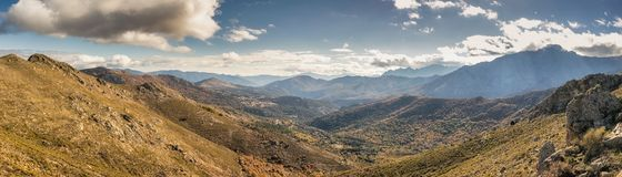 Panoramic view of Olmi Cappella valley with in Corsica Royalty Free Stock Photos