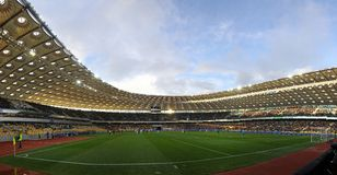 Panoramic view of Olympic stadium in Kyiv Stock Photo