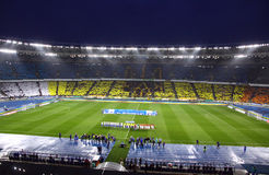 Panoramic view of Olympic stadium in Kyiv Royalty Free Stock Photography