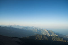 The panoramic view from Olympos Mountain - Tahtali, Kemer, Antalya Province Stock Image