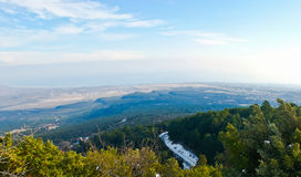 The panoramic view from Olympus mount Royalty Free Stock Image