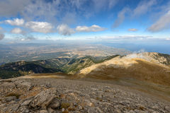 Panoramic view from Olympus mountain Stock Image