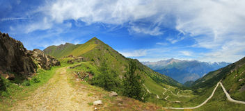 Panoramic View On Alps. Royalty Free Stock Photos