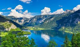 Free Panoramic View On Austrian Mountains Alps Lake Stock Photography - 99935992