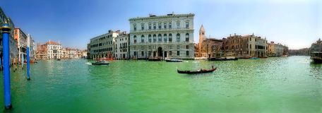 Free Panoramic View On Grand Canal In Venice, Italy. Royalty Free Stock Photos - 4935418