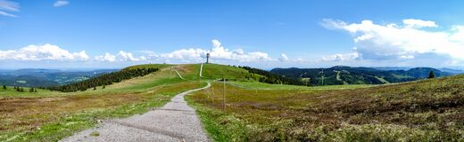 Free Panoramic View On The Feldberg In The Black Forest Royalty Free Stock Photo - 194352125