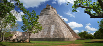 Panoramic view of one of the most beautiful and high pyramid in Stock Images