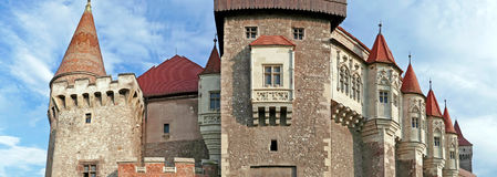 Panoramic view of one part at the Corvins castle Royalty Free Stock Photo