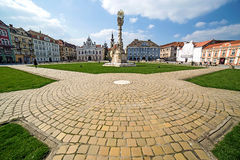 Panoramic view of one part at Union Square in Timisoara, Romania Stock Images