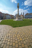 Panoramic view of one part at Union Square in Timisoara, Romania. TIMISOARA, ROMANIA - MARCH 18, 2016: Panoramic view of one part at Union Square in Timisoara Royalty Free Stock Image