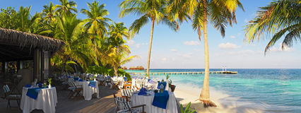 Panoramic view from open air restaurant Stock Image