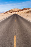 Panoramic View Open Road Death Valley National Park Highway Royalty Free Stock Photos