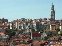 Panoramic view of Oporto, Portugal. Panoramic view of Oporto, Porto, an old town in the North of Portugal Royalty Free Stock Photo