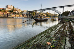 Panoramic view of Oporto Portugal Stock Images