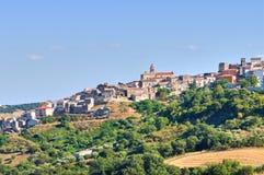 Panoramic view of Oppido Lucano. Basilicata. Italy. Stock Images