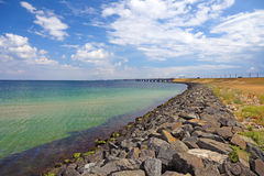 Panoramic view of Oresundsbridge. Royalty Free Stock Photography