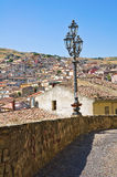 Panoramic view of Oriolo. Calabria. Italy. Stock Photography