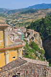 Panoramic view of Oriolo. Calabria. Italy. Royalty Free Stock Images