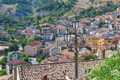 Panoramic view of Oriolo. Calabria. Italy. Royalty Free Stock Photography