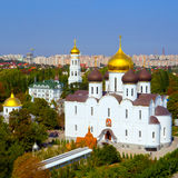 Panoramic view of the Orthodox Cathedral Stock Photography