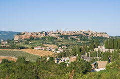 Panoramic view of Orvieto. Umbria. Italy. Stock Images