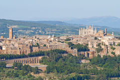 Panoramic view of Orvieto. Umbria. Italy. Royalty Free Stock Photography
