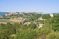 Panoramic view of Orvieto. Umbria. Italy. Stock Image